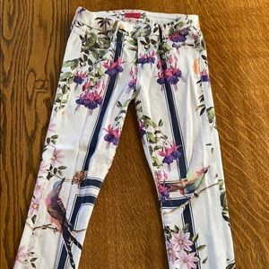 MOTHER floral jeans